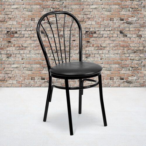 Our Fan Back Metal Chair with Vinyl Seat is on sale now.