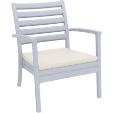 Artemis XL Polypropylene Club Arm Chair - Silver Gray