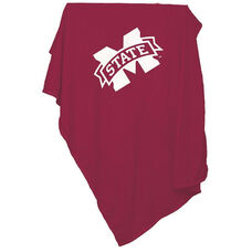 Mississippi State University Team Logo Sweatshirt Blanket