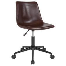 Siena Home and Office Task Chair in Brown Leather