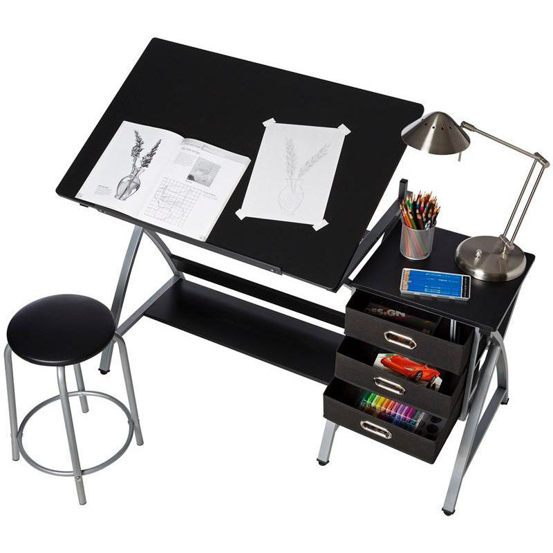 Our OneSpace Craft Station With Stool   Black And Silver Is On Sale Now.