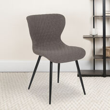 Bristol Contemporary Upholstered Chair in Gray Fabric