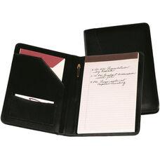 Junior Writing Padfolio - Top Grain Nappa Leather - Black
