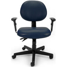 24 Hour Anti-Microbial and Anti-Bacterial Vinyl Task Chair with Arms - Navy