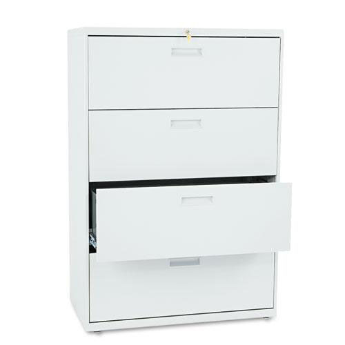 Our HON® 500 Series Four-Drawer Lateral File - 36w x 19-1/4d x 53-1/4h - Light Gray is on sale now.