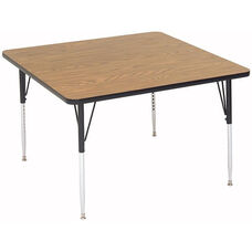 Adjustable Height Square Laminate Top Activity Table - 42