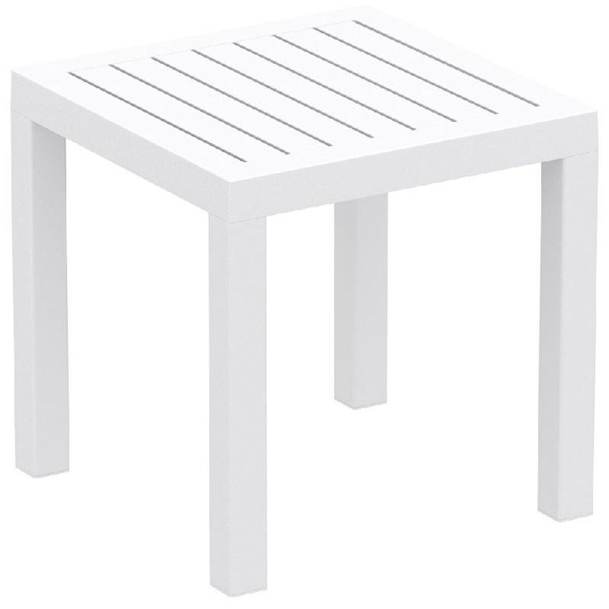 Our Ocean Outdoor Resin Square Side Table White Is On Now