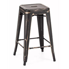Marius Counter Stool in Antique Black Gold