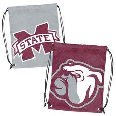 Mississippi State University Team Logo Doubleheader Drawstring Backsack