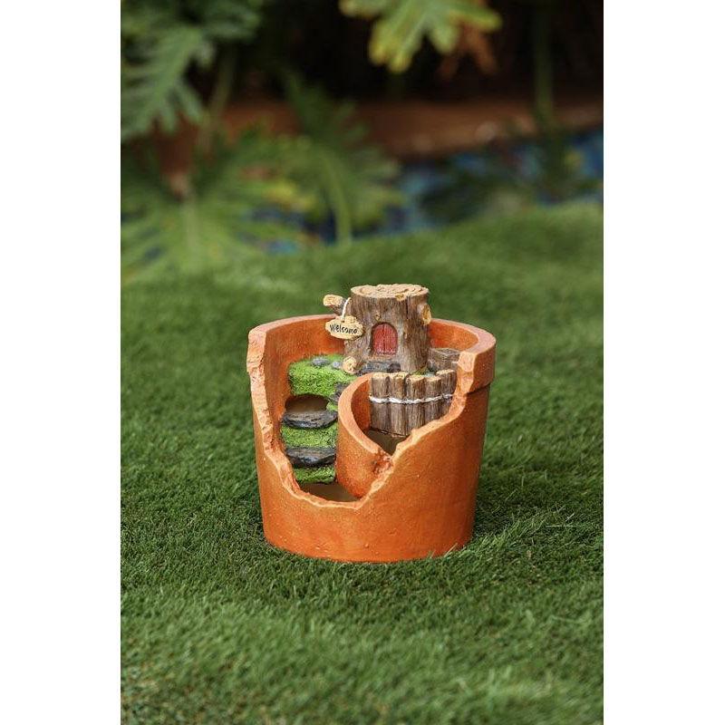 ... Our Log House 7.5u0027u0027H Miniature Fairy Garden Set Planter Is On Sale Now