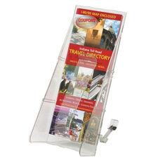 Deflecto Lit. Rack -1 Leaflet Size Pocket -4 9/16