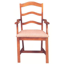 8819 Arm Chair w/ Chippendale Legs & Upholstered Seat - Grade 2