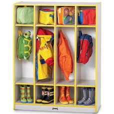 Rainbow Accents Coat Lockers - 4 Sections