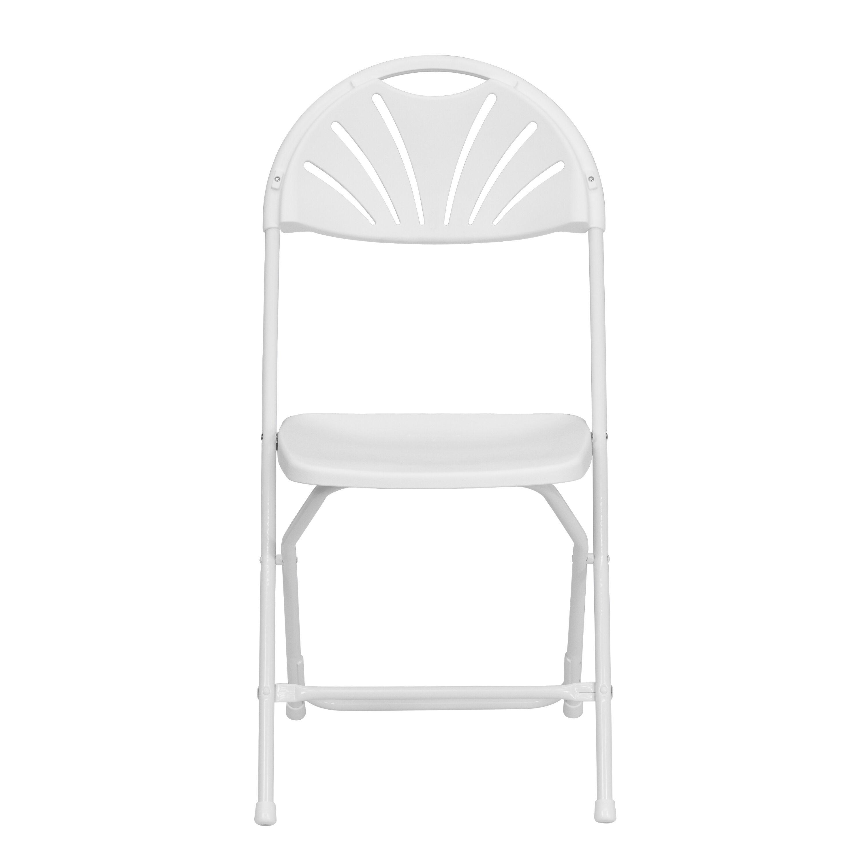 Capacity White Plastic Fan Back Folding Chair Is On Sale ...