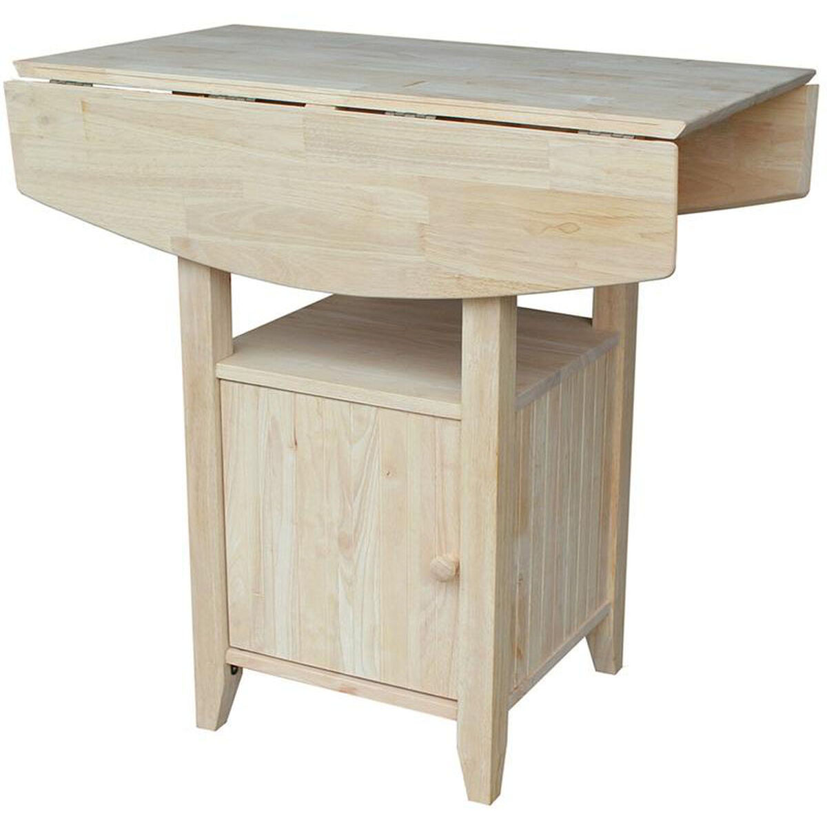 Solid Wood Coffee Tables With Storage Cabinets For Sale: Solid Wood Counter Height Table T-3638DPG
