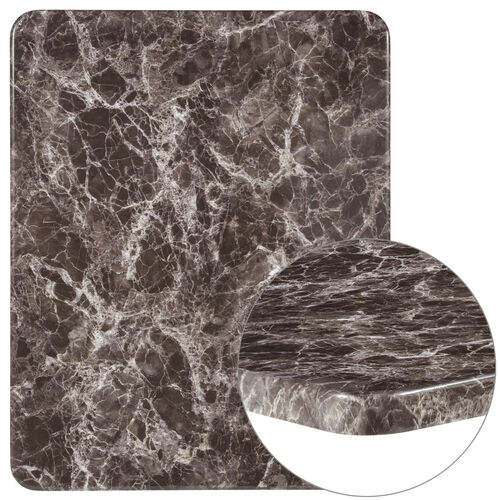 "Our 24"" x 30"" Rectangular Gray Marble Laminate Table Top is on sale now."
