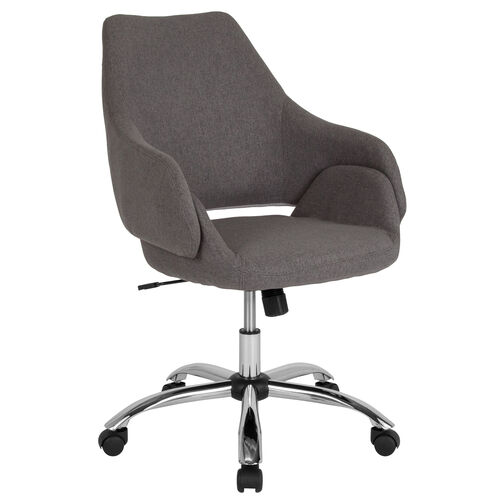 Our Madrid Home and Office Upholstered Mid-Back Chair in Dark Gray Fabric is on sale now.