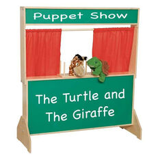 Deluxe Puppet Theater with Marquis on Top and Message Board on Lower Panel - 47