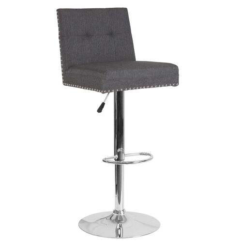 Our Ravello Contemporary Adjustable Height Barstool with Accent Nail Trim in Dark Gray Fabric is on sale now.