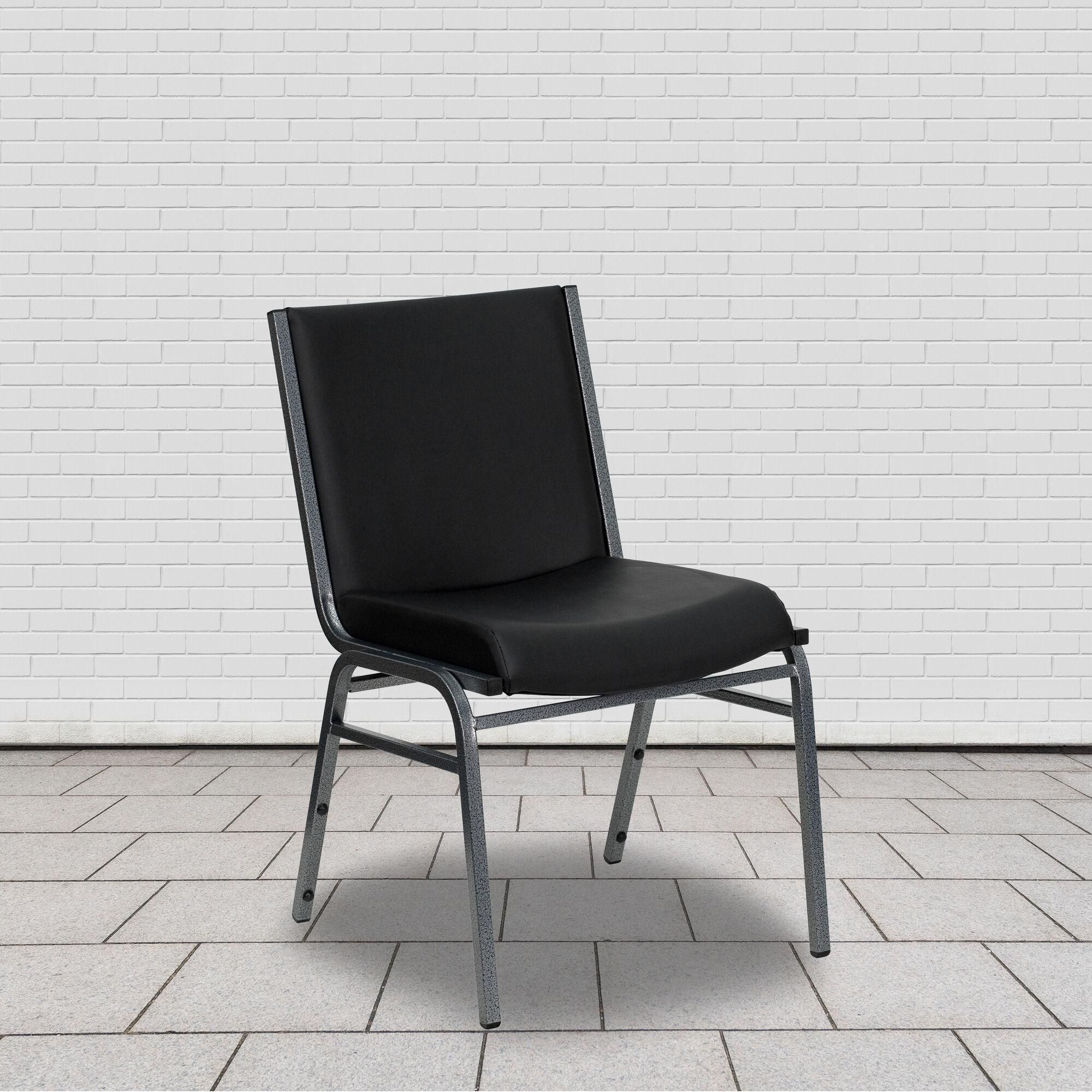 Black Vinyl Stack Chair Xu 60153 Bk Vyl Gg Bizchair Com