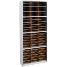 Value Sorter® Seventy-Two Compartment Literature Sorter and Organizer - Gray
