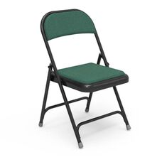 Multi-Purpose Steel Folding Chair with Sedona Loden Fabric Pads and Black Frame - 17.75