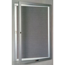 435 Series Aluminum Frame Directory Cabinet with 1 Locking Tempered Glass Door - 30