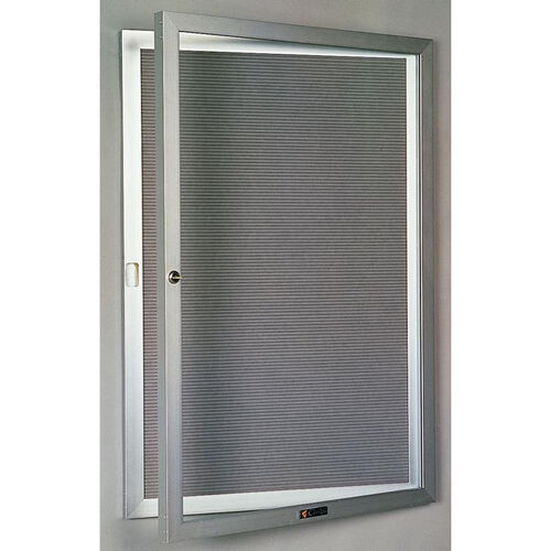 Our 435 Series Aluminum Frame Directory Cabinet with 1 Locking Tempered Glass Door - 30