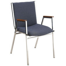 400 Series Stacking Square Steel Frame Hospitality Armchair with Full Back and 3'' Upholstered Seat