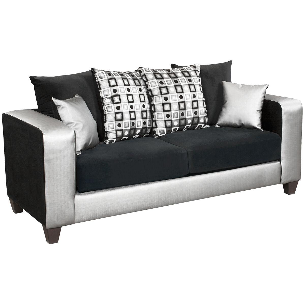 Black Velvet Sofa RS-4120-06S-GG   Bizchair.com