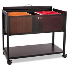 Safco® Locking Top Mobile Tub File - 1-Shelf - 33-1/4