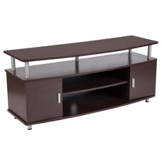 Wheaton Espresso Wood Finish TV Stand