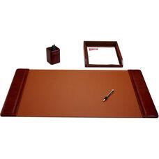 Classic Leather 3 Piece Desk Set - Mocha