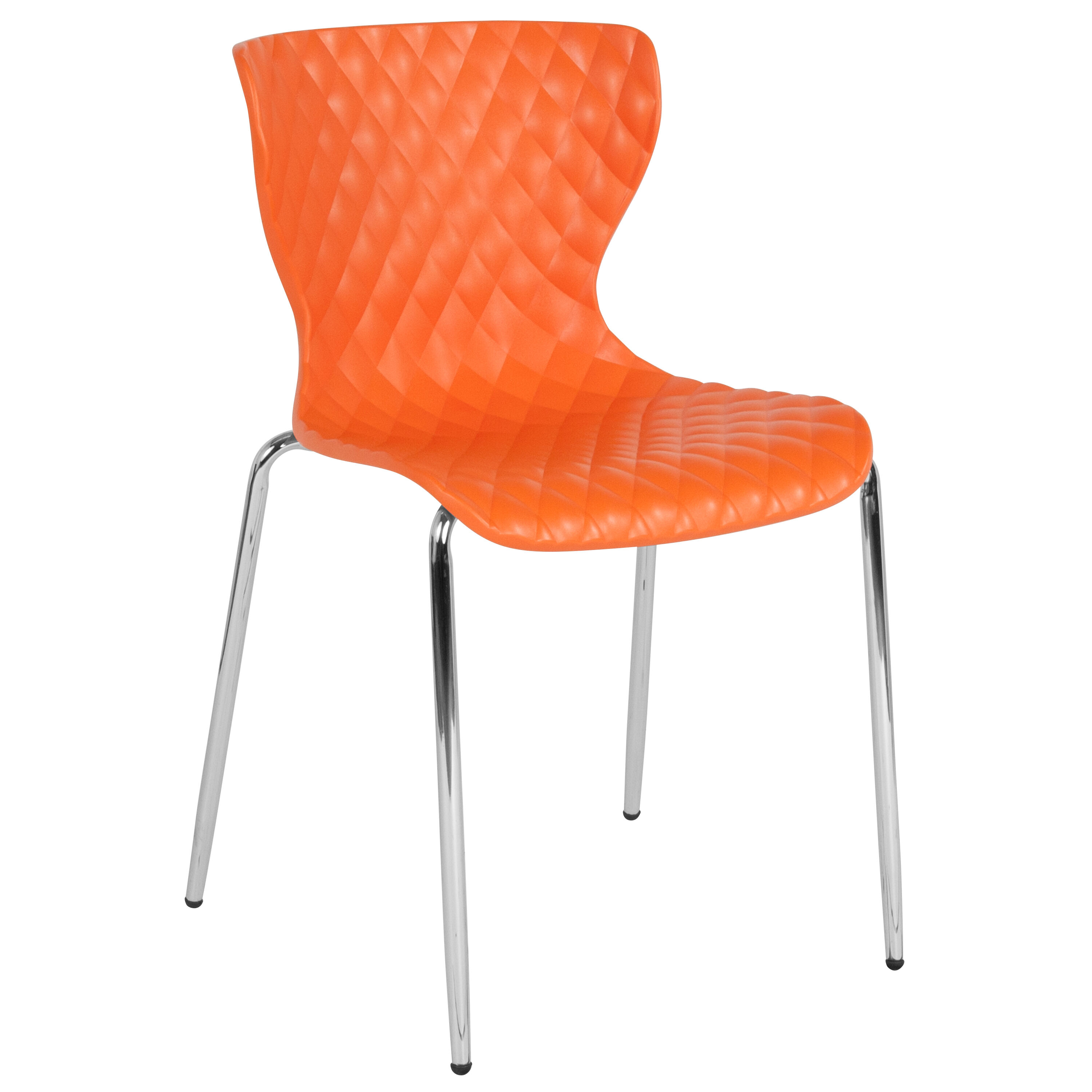 Incroyable Our Lowell Contemporary Design Orange Plastic Stack Chair Is On Sale Now.