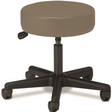 Pneumatic Adjustable Medical Stool - Warm Gray with Black Base