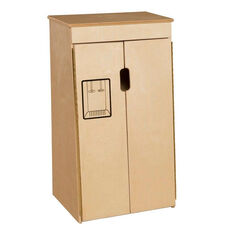 Pretend Play Tip-Me-Not Healthy Kids Plywood Refrigerator - Assembled - 20.5