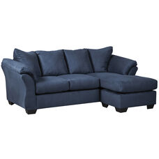 Signature Design by Ashley Darcy Sofa Chaise in Blue Microfiber