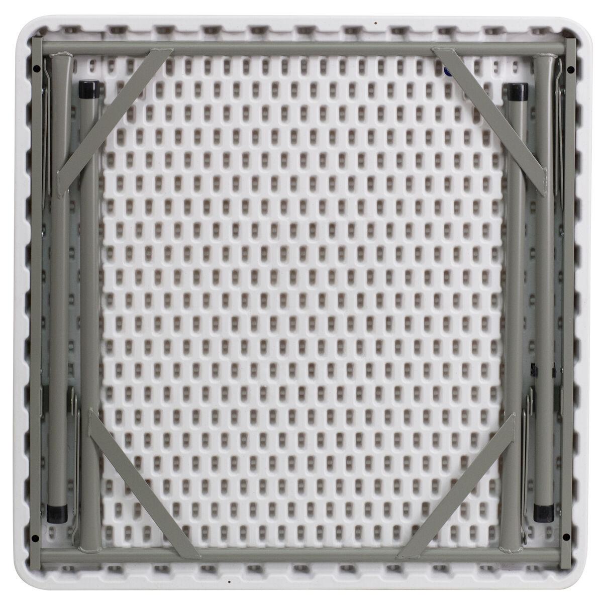 Flash Furniture 34 Square Granite White Plastic Folding