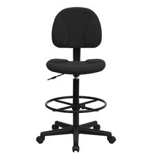 Basics Drafting Office Chair with 2 Cylinders, Black