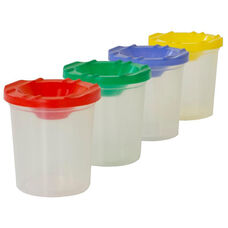 Plastic Paint Cups with Assorted Lids - Set of 8 - 2.75
