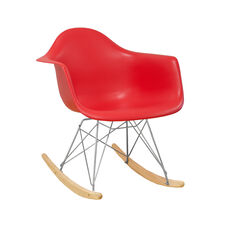 Paris Tower Rocking Chair with Red Seat