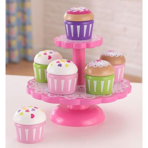 Our Kids Wooden Make-Believe Cupcakes with 2-Tier Stand Play Set is on sale now.