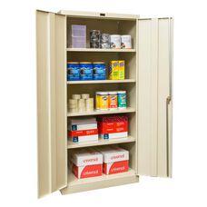 800 Series One Wide Single Tier Double Door Storage Cabinet - Unassembled - Tan - 36