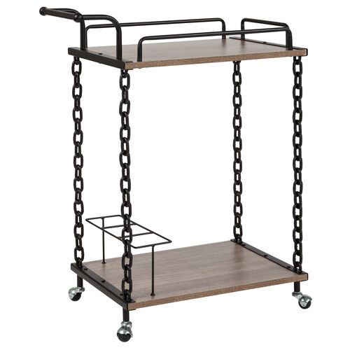 Our Uptown Light Oak Wood and Industrial Iron Kitchen Serving and Bar Cart is on sale now.