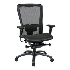 Pro-Line II ProGrid® Mesh High Back Office Chair with Adjustable Arms and Lumbar Support - Black