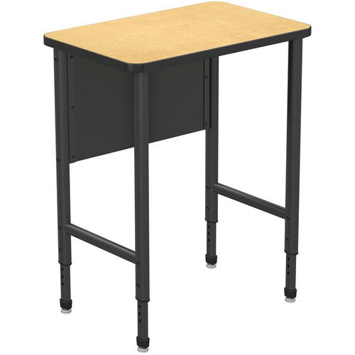 Our Apex Series Height Adjustable Stand Up Desk with PVC Edge - Fusion Maple Top with Black Edge and Legs - 30