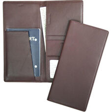 Passport Travel Document Wallet - Top Grain Nappa Leather - Burgundy