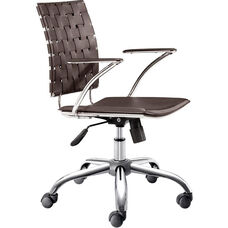 Criss Cross Mid-Back Chair in Espresso