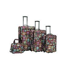 Rockland 4 Pc. Luggage Set - Owl