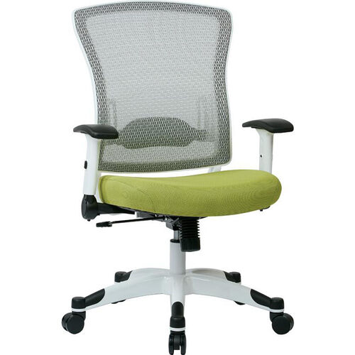 Our Space Pulsar Managers Office Chair with Fabric Padded Seat - Dove Olive with White Frame is on sale now.